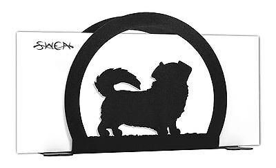 Tibetan Spaniel Dog Black Metal Napkin or Letter Holder *NEW*