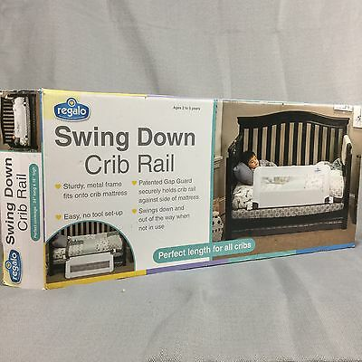 Regalo Swing Down Crib Rail Bed Toddler Safety