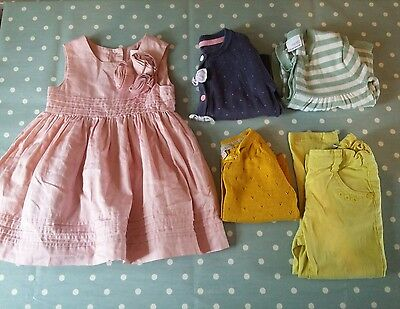 Baby Girls Summer Bundle 12 - 18 months Dress, Cardigans, Trousers - Next & M&S