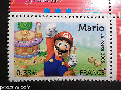 FRANCE, 2005, timbre 3847, JEU MARIO LE PLOMBIER, VIDEO GAMES, neuf** MNH STAMP