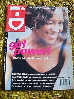 ID Sep 1993 magazine NAOMI CAMPBELL cover photos Gilbert & George issue I-D