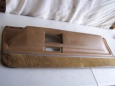 Original Cadillac Two Door Passenger Side Lower Arm Rest Panel