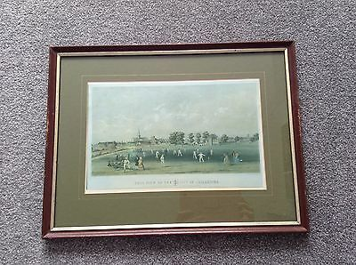 Framed Cricket Print Of Chichester 1882