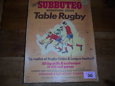 Subbuteo Rugby Boxed Table Top Game Sale Sheffield / Wigan Complete