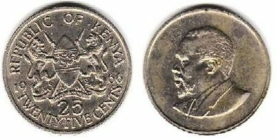 Kenya, 25 Cents, 1966,  18 mm, 2.6 gr, Copper-Nickel, KM# 3
