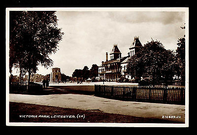 B75 Victoria Park Leicester RP Real Photographic Postcard Posted 1935