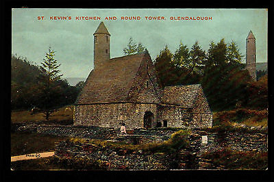 B91 St Kevins Kitchen and Round Tower Glendalough Unposted Rear Damaged
