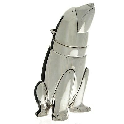 Novelty English Silver Plated Polar Bear Cocktail Shaker