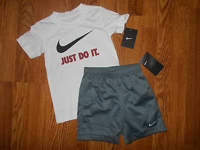 NWT NIKE Boy's Size 4T Athletic Shorts & T-Shirt Outfit Set NEW