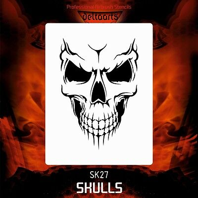 Airbrush stencil template DELTAARTS SKULL 27 - 4 SIZES AVAILABLE MINI MID XL XXL