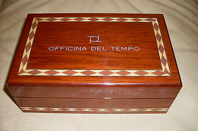 Box In Radica Di Noce Orologio Officina Del Tempo Nuovo N.o.s. New Old Stock