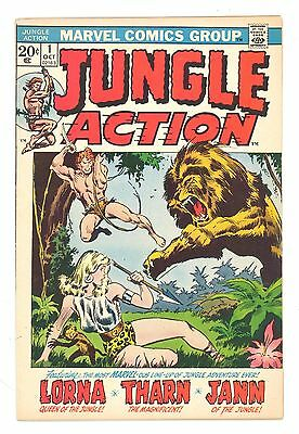 JUNGLE ACTION #1  Marvel 1972 - Golden Age Reprints - Lorna, Tharn, Jann - FN/VF