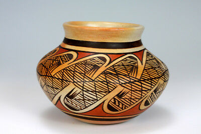 Hopi American Indian Pottery Bowl - Elva Nampeyo