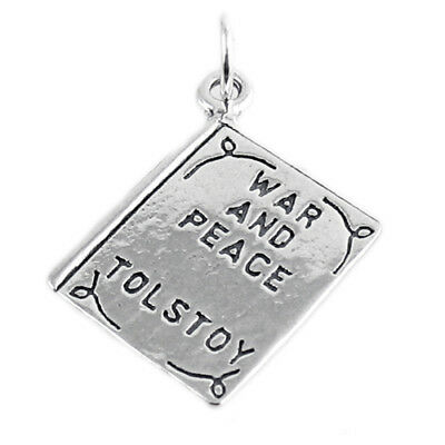 Sterling Silver 3D Two Sided Huckleberry Finn By Twain Book Charm