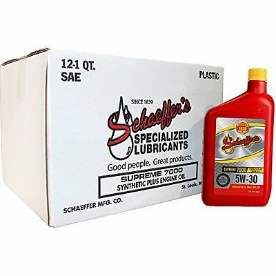 Supreme 7000 Synthetic Plus Engine Oil, 5W-30, 1 quart (Pack of 12)  Schaeffer