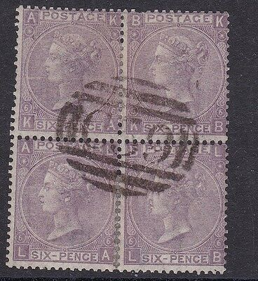 GB used abroad in JACMEL HAITI C59 6d purple plate 6 spray BLOCK OF 4 RARE SG106