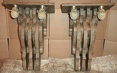 """EX Large PAIR Decorative 1880's  Victorian Style Corbels """"Pieces from the Past"""""""