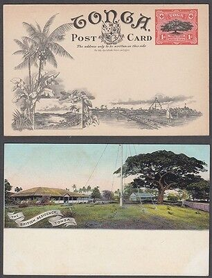 TONGA EARLY 1d. POSTCARD ILLUSTRATED POSTAL STATIONERY (ID:183/D45697)