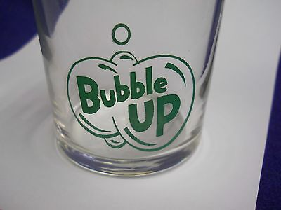 50`s BUBBLE UP SODA GLASS GREEN COLOR