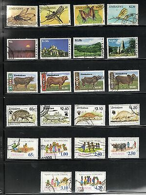 1995-98 Zimbabwe SC #736-795 used Pictorial sets RURAL LIFE Animals Insects