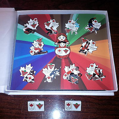 Canadian Tire 2014 Sochi Olympics pin set