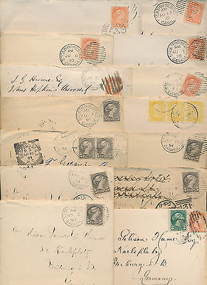 1888-92 James G Hume Correspondence, 25 Covers, Enclosures, Toronto, Germany