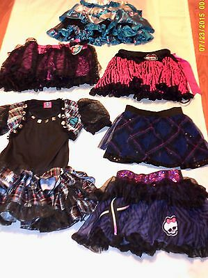 Girls ONE SIZE MONSTER HIGH Clothing Lot (1 Dress, 2 Vests, 5 Skirts)