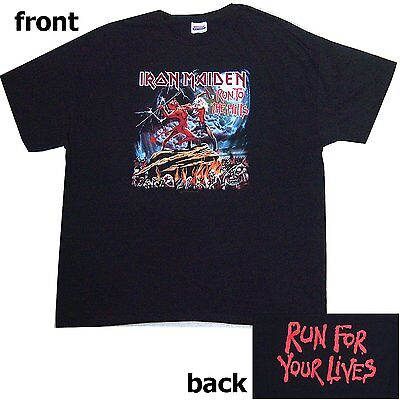"""Iron Maiden Run """"to The Hills"""" For Your Lives Black T-Shirt 2Xl Xx-Large New"""