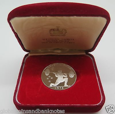 Samoa - 1976 $1 Olympic Games Weight Lifting, 1oz Silver Proof Coin