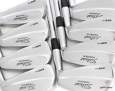 Titleist 690.mb Forged 3-Pw Irons Steel Stiff Flex - New Grips #d5598