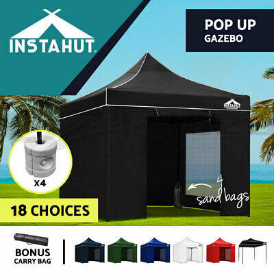 3x3M Outdoor Gazebo Pop Up Folding Marquee Party Stall Tent Canopy BBQ 6 Colours