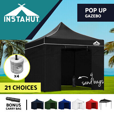Instahut 3x3m Gazebo Outdoor Pop Up Wedding Tent Folding Marquee Party Canopy