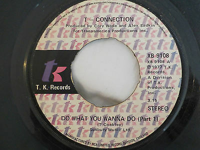 "T Connection Do What You Wanna Do Vintage 1977 Disco Funk 7"" Vinyl Single"
