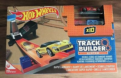 Hot Wheels Playset Track Builder System - Rapid Launcher - New & Sealed