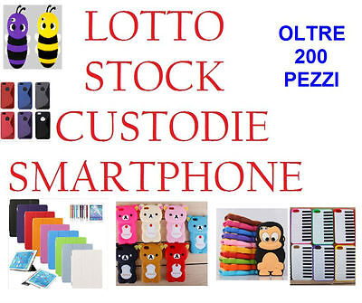 Lotto STOCK 200 Pezzi Cover Custodie IPAD VARIE TIPOLOGIE Iphone Samsung AFFARE
