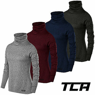 TCA Women's Warm-Up Funnel Neck Thermal Running Top