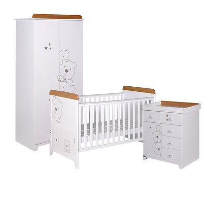 Tutti Bambini 3 Bears 3 Piece Nursery Furniture Set - JULY OFFER