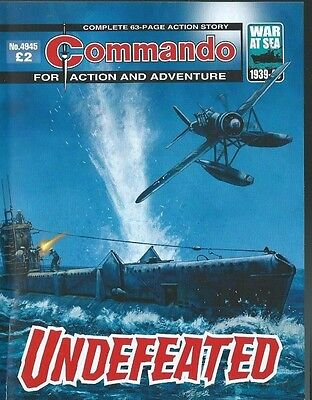 Undefeated,commando For Action And Adventure,no.4945,war Comic,2016