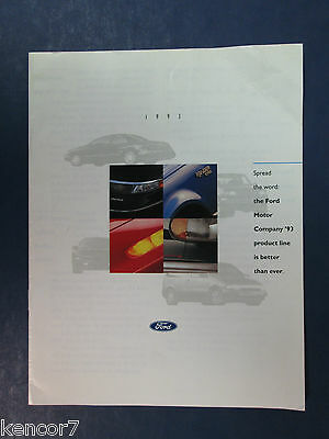 1993 Ford Full Line Sales Brochure C7040