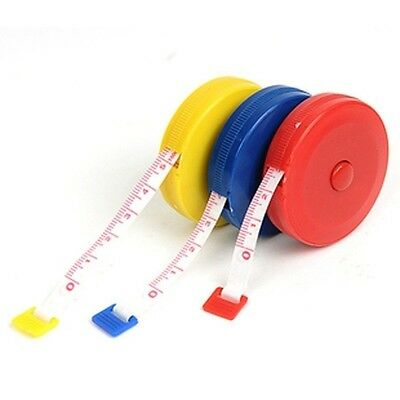 "Retractable 60"" 1.5M Sewing Tailor Cloth Soft Flat Tape Body Measure Ruler"