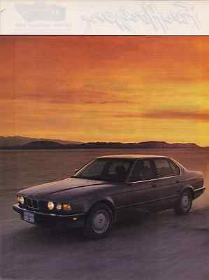 1987 BMW 735i  ~  GREAT 5-PAGE ROAD TEST / ARTICLE / AD