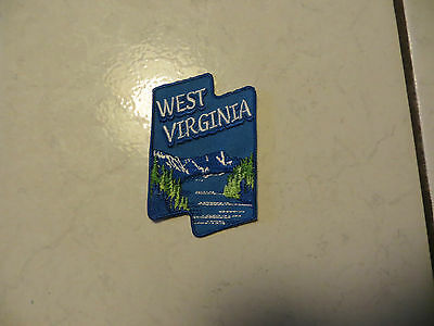 West Virginia State In Usa With Mountains,lake And Mountains,show Love Patch