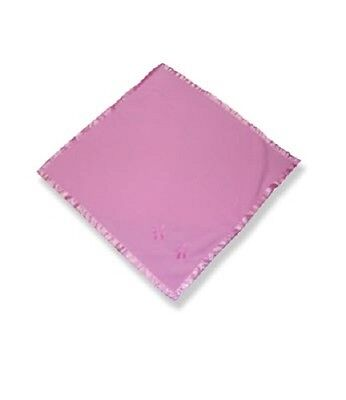 "Teddy Bear Pink Blanket satin trim compatible with fits 15"" Build a Bear"