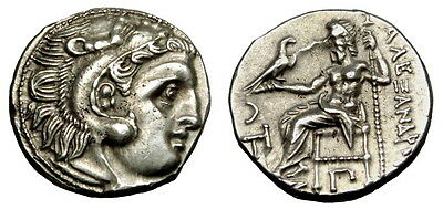 Alexander Iii The Great Ar Drachm. Choice (L117)