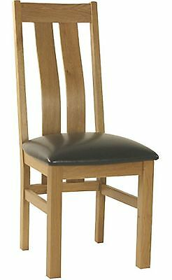 Langdale solid oak dining room furniture set of four curve back dining chairs