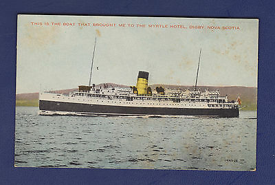 Unused Postcard, The Boat That Brought Me To Myrtle Hotel (S.s. Princess Helene)