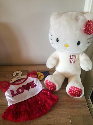 Build A Bear Factory Rare & Htf Gorgeous Valentine Love Hello Kitty & Outfit Tag