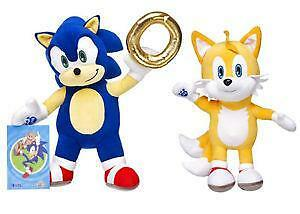 Build A Bear Factory Online Exclusive Sonic The Hedgehog/tails/gold Ring Bnwt