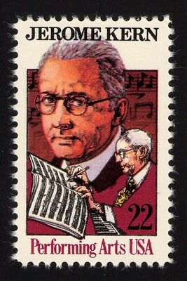 JL-1709 Sc 2110a 22c Jerome Kern single VF NH tagging omitted error, SCV $9
