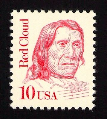 JL-1710 Sc 2175b 10c Red Cloud single VF NH tagging omitted error, SCV $14